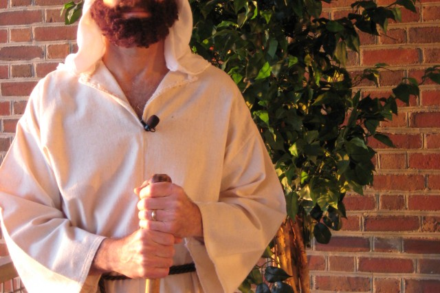 Installation Chaplain (Lt. Col.) Bart Physioc will portray Peter in a two-part play about the Passion of Jesus.