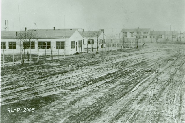 A view of Signal Corps Radio Laboratories, Camp Alfred Vail, Jan. 19, 1919, looking north. The camp later became known as Fort Monmouth.