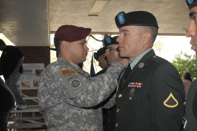 Son welcomes stepfather to active duty