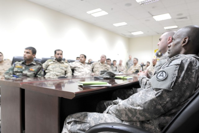 Maj. Peter Brownlowe, a Third Army logistics analyst, escorted servicemembers from 23 different nations attending the orientation.