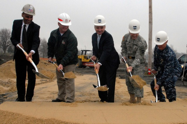 Naval Station Newport breaks ground on new Army Reserve Center