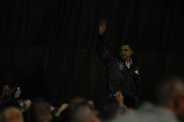 Pres. Obama visits Bagram Airfield