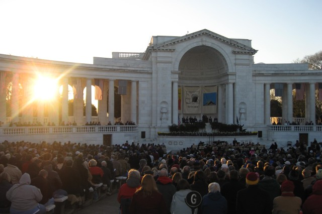 The annual Easter Sunrise Service hosted by the U.S. Army Military District of Washington will be held on Sunday, April 4 in the Memorial Amphitheater at Arlington National Cemetery.