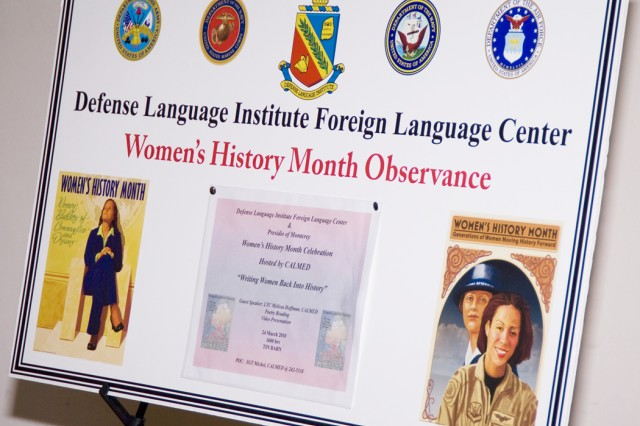 PRESIDIO OF MONTEREY, Calif. - The Presidio of Monterey community celebrated Women's History Month here March 24.