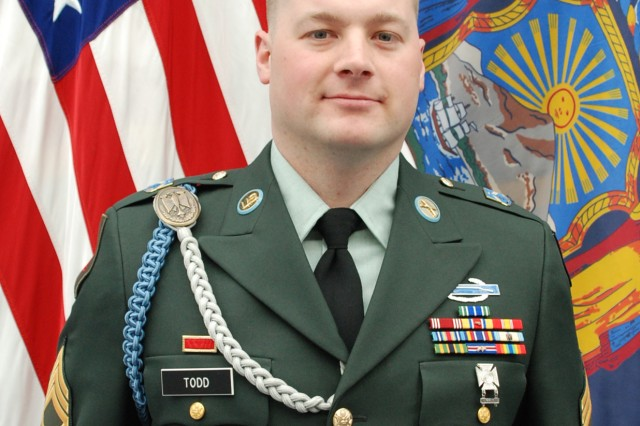 LATHAM,NY--Staff Sgt. Joshua Todd, an infantry skills instructor and a contractor in civilian life, is the New York Army National Guard Traditional NCO of the Year for 2010