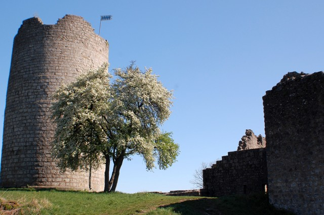 Burg Kallmuenz sits above the town of Kallmuenz inviting visitors to explore. The tower is also a cafe, open on Sundays and public holidays from 1-5 p.m. when the weather is beautiful.