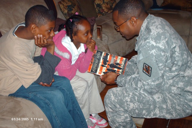 Father's sins inspire Soldier: Captain pens book while wife is in Iraq