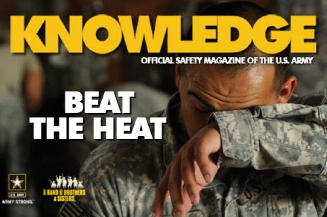 April's edition of Knowledge Magazine features a cover story about heat injury prevention.