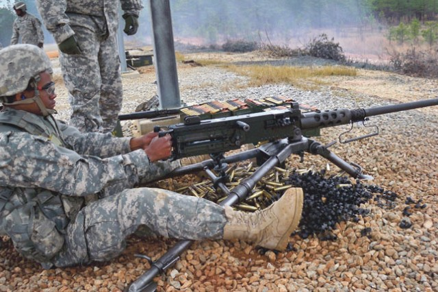 Day 44: Trainees get hands-on with the .50-caliber machine gun.