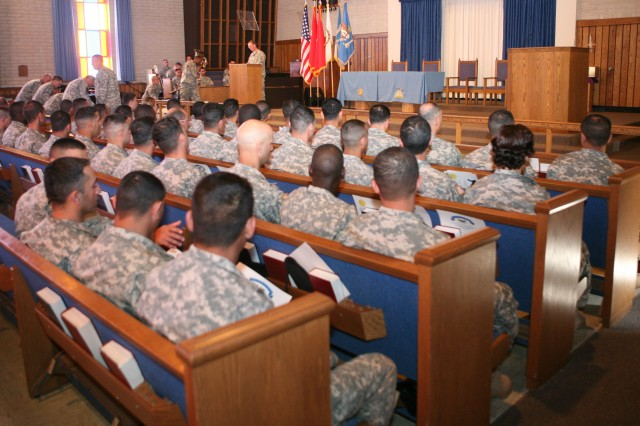 Forty Soldiers graduated from the 09L Interpreter/Translator Advanced Individual Training Course, March 25.