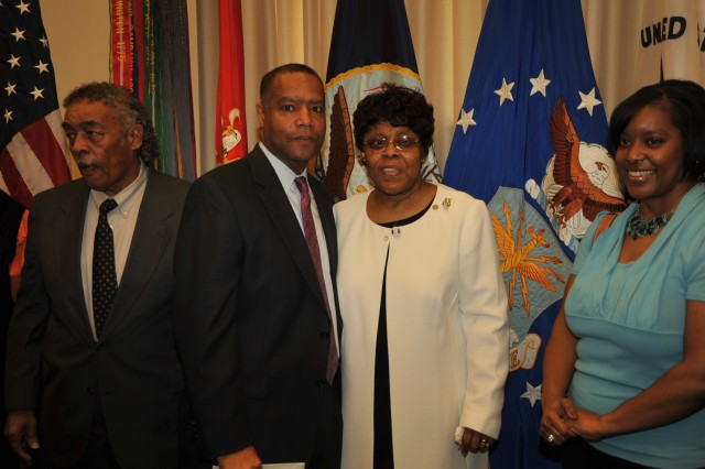 Col. (ret) Wendell Warner, former Inspector General at The U.S. Army Military District of Washington poses with Linda Bynum-Knight. Col. Warner convinced Ms. Knight to become an inspector general assistant.
