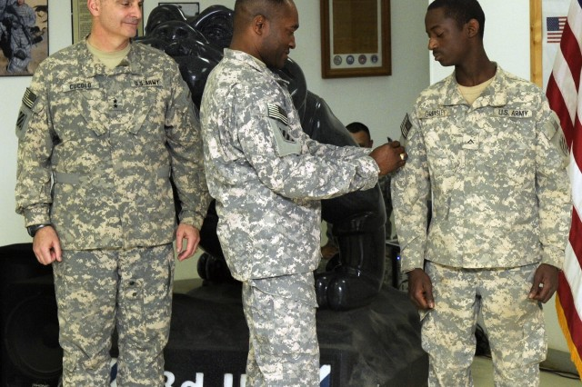 TF Marne combat patch ceremony