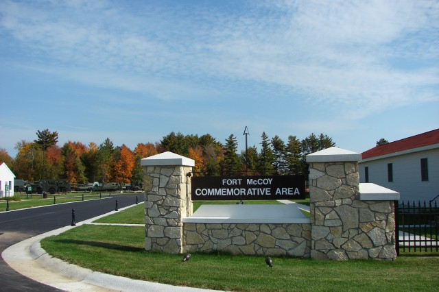 The Commemorative Area at Fort McCoy, Wis., has been a part of the installation's Community Relations efforts and a fixture at the installation since 1995. This view highlights an entrance bordered by replicas of stone gates constructed at the post in the 1940s. The Commemorative Area recently was recognized with a third-place award in the Community Relations Program Award Category of the Department of the Army 2009 Maj. Gen. Keith L. Ware Public Affairs Communications Competition. The Commemorative Area will serve as the hub of activities for the installation's Armed Forces Day celebration Saturday, May 15, 2010.