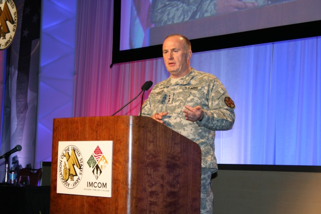 """Lt. Gen. Rick Lynch: """"I challenge leaders and personnel throughout the Army Community to think of new ideas to enhance installation resiliency initiatives."""""""