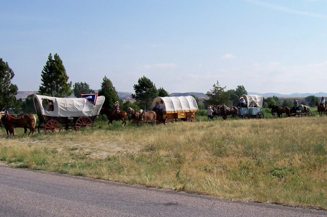 Oregon Trail reenactments are conducted on Camp Guernsey.