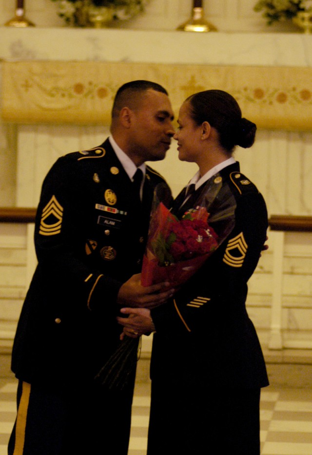 NCO couple gets promoted together at Old Post chapel