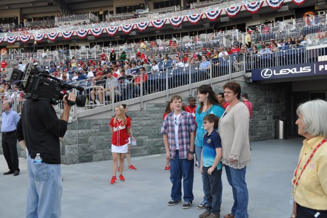Nationals recognize military Family