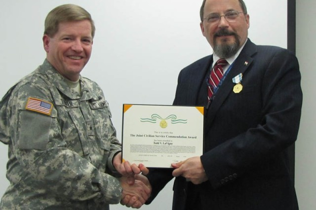 Todd LaVigne, Joint Civilian Service Commendation Award