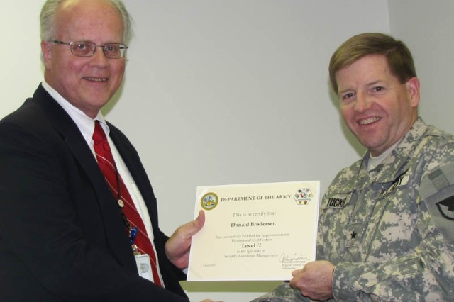 Donald Brodersen, Completion of the Security Assistance Certification Program, Level II