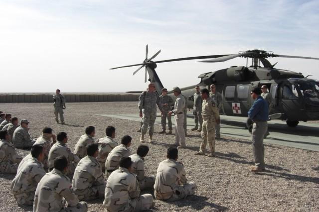 Iraqi medics take flight with MEDEVAC training