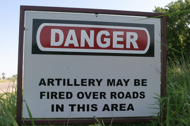 Danger isn't limited to falling artillery rounds. Rounds on the ground that failed to explode can be more dangerous to the uninformed.