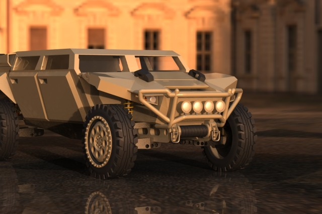 Seventeen College for Creative Studies design students spent last semester researching military vehicles to brainstorm new fuel-efficient concepts.