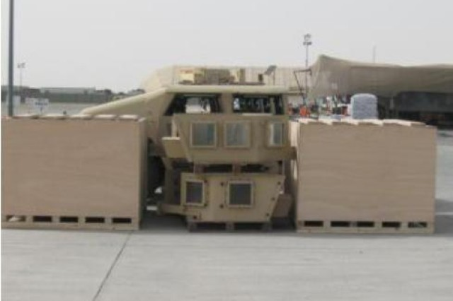 An M1114 and all of the equipment stored in the container with it.