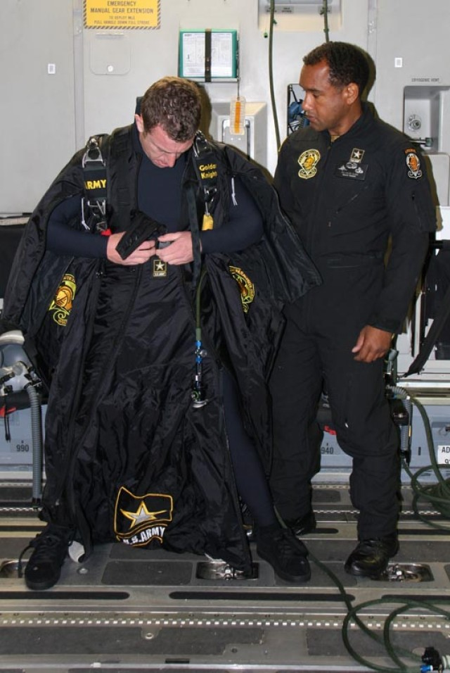 United States Army Parachute Team Soldier sets new wing suit world record in tandem with the 97th air mobility wing