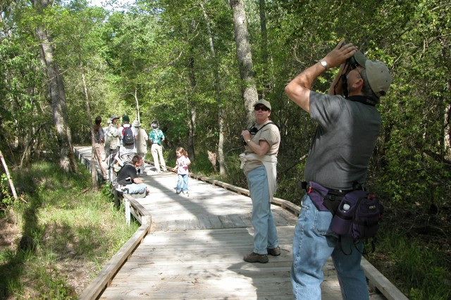 Fort Bragg promotes public access to the installation by providing a number of recreational opportunities, such as bird-watching, on its 18-mile All-American Trail, a registered North Carolina Birding Trail. The All-American trail runs adjacent to several active RCW clusters, and the Natural Resources Team installed interpretive signs along its length. Other public access and recreational opportunities at Fort Bragg include camping, fishing and hunting, with special provisions made by the installation for disabled hunters and fishers.