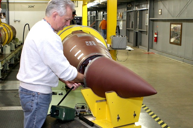 The G-4 E-Team completes the recertification of Army Tactical Missile Systems at the Letterkenny Munitions Center. The G-4 E-Team reviews aviation and missile technical maintenance documentation to identify requirements for the use of Ozone-Depleting Chemicals and HAZMAT. Where possible, the team recommends suitable environmentally friendly replacements.