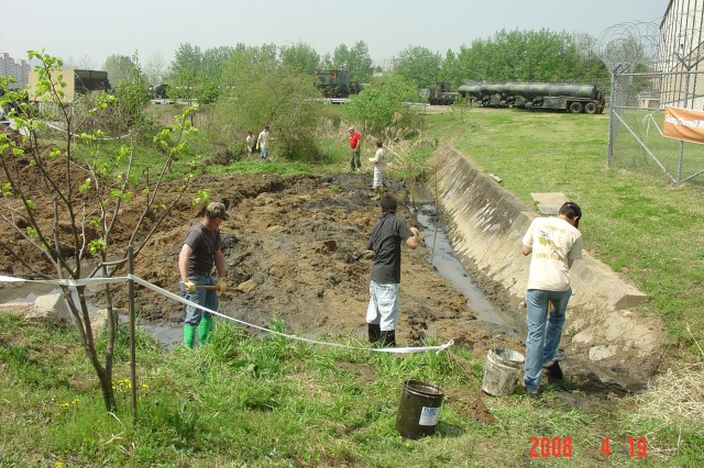 Boy Scouts assist with wetland restoration