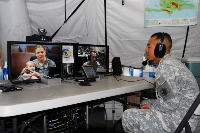 U.S. Army South couple re-enlists by video teleconference