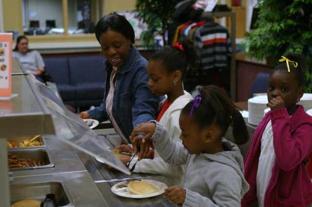 Families gather for Month of the Military Child pancake breakfast