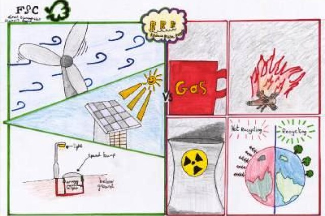First place winner from AFNORTH International High School, Grade M1, in USAG Schinnen's Earth Day 2010 poster contest.