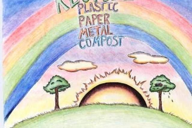 First place winner from Geilenkirchen Elementary School/Kleine Brogel Elementary School, in USAG Schinnen's Earth Day 2010 poster contest.