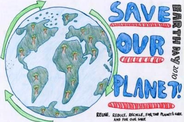 Second place winner from AFNORTH International High School, Grade M1, in USAG Schinnen's Earth Day 2010 poster contest.