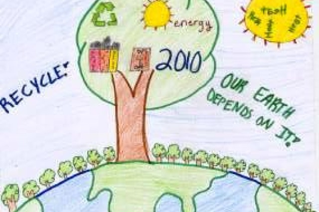 Second place winner from AFNORTH International High School, Grade M2, in USAG Schinnen's Earth Day 2010 poster contest.