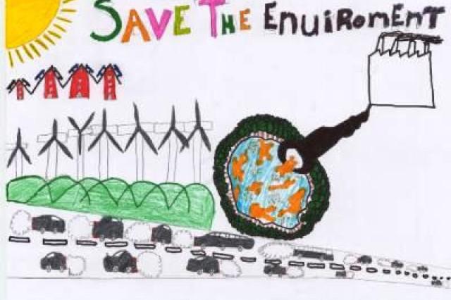 Second place winner from De Verrekijker, Amstenrade, Municipality of Schinnen, in USAG Schinnen's Earth Day 2010 poster contest.
