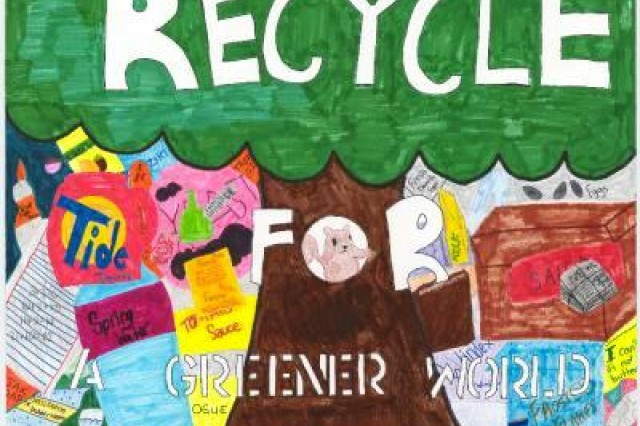 Second place winner from Geilenkirchen Elementary School, in USAG Schinnen's Earth Day 2010 poster contest.