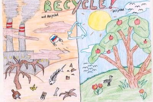 Third place winner from AFNORTH International High School, Grade M2, in USAG Schinnen's Earth Day 2010 poster contest.