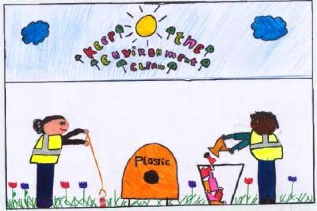Third place winner from De Verrekijker, Amstenrade, Municipality of Schinnen, in USAG Schinnen's Earth Day 2010 poster contest.