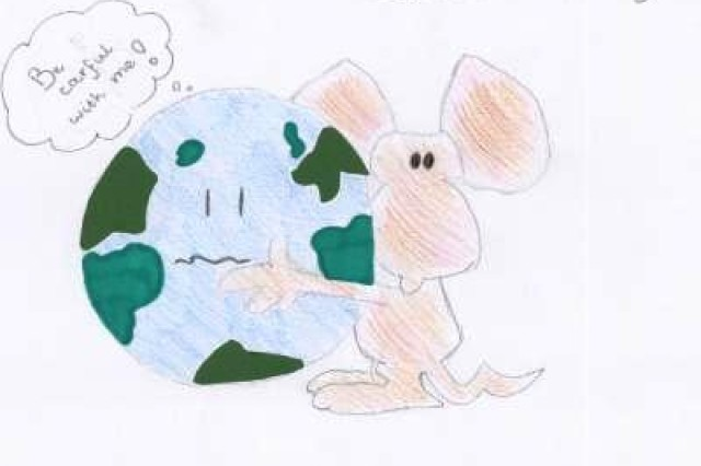 Fourth place winner from Saint Dionysius, Municipality of Schinnen, in USAG Schinnen's Earth Day 2010 poster contest.