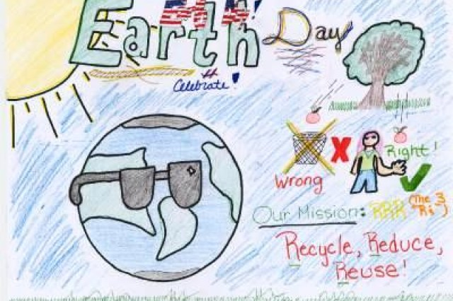 Fourth place winner from AFNORTH International High School, Grade M2, in USAG Schinnen's Earth Day 2010 poster contest.