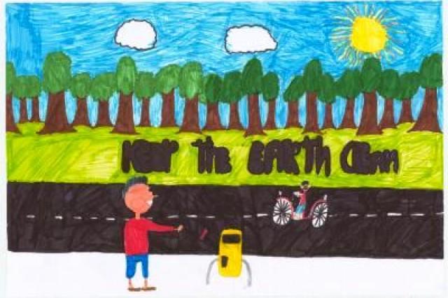 Fourth place winner from De Verrekijker, Amstenrade, Municipality of Schinnen, in USAG Schinnen's Earth Day 2010 poster contest.