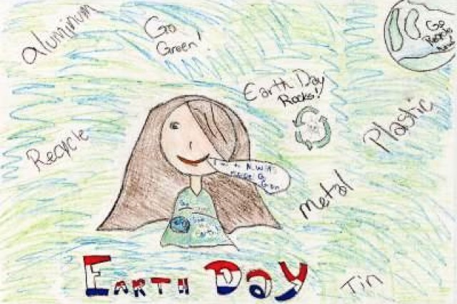 Fourth place winner from Geilenkirchen Elementary School, in USAG Schinnen's Earth Day 2010 poster contest.