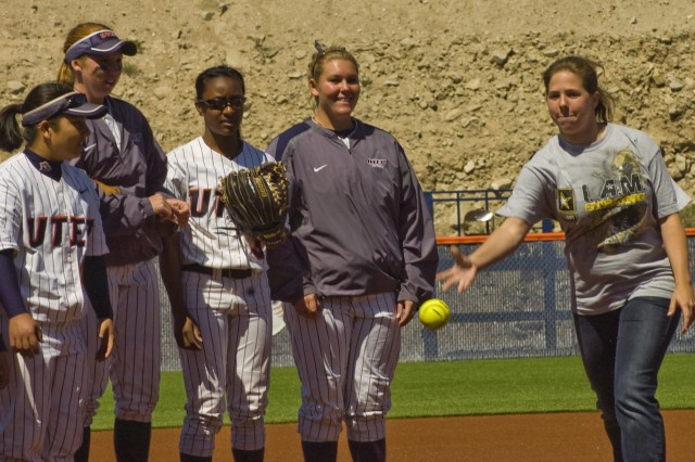 "Bliss BOSS Soldiers enjoy ""Military Weekend with UTEP Softball"""