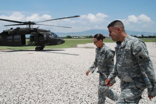 Reenlistment at 350 Feet above Port-au-Prince, Haiti
