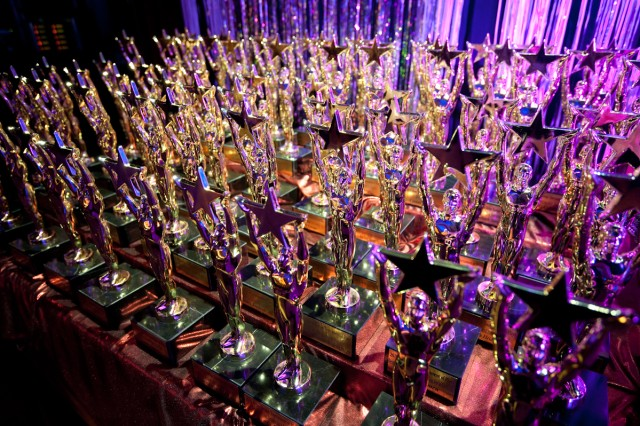 Topper Award trophies