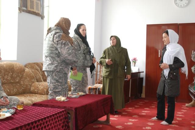 Female Soldiers Meet Female Students in Mazar E Sharif