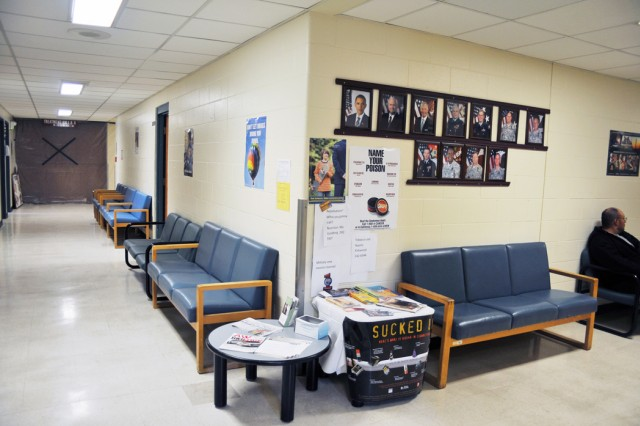 """PRESIDIO OF MONTEREY, Calif. - A section of the clinic before the phase of renovations began. """"These buildings were built in the '70s, so everything on the inside had to be updated,"""" said Capt. Robert Weber, CALMED executive officer."""